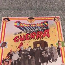 Discos de vinilo: LP CANCIONES PARA DESPUES DE UNA GUERRA. Lote 205298343