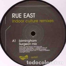 "Discos de vinilo: RUE EAST - INDOOR CULTURE REMIXES - PART 2 (12"") LABEL:PURE PLASTIC CAT#: PP041. Lote 205299593"