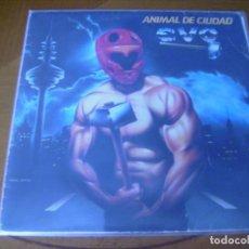 Discos de vinilo: LP : EVO : ANIMAL DE CIUDAD : HEAVY SPANISH EMI 1983 + FUNDA CON LETRAS. Lote 205306508