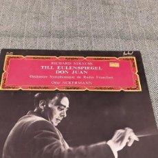 Discos de vinilo: LP RICHARD STRAUSS. Lote 205306927