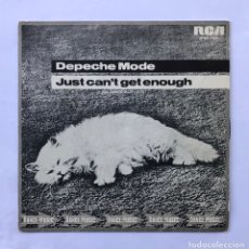 "Discos de vinilo: 7"" DEPECHE MODE NO TENGO BASTANTE (JUST CAN'T GET ENOUGH) EX - ENVIO GRATIS. Lote 205308532"