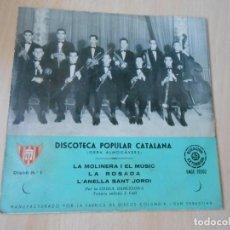 Disques de vinyle: COBLA BARCELONA - DISCOTECA POPULAR CATALANA -, EP, LA MOLINERA I EL MUSIC + 2, AÑO 1959. Lote 205311138