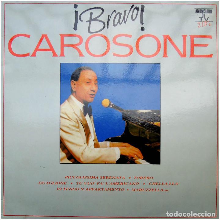 RENATO CAROSONE ?– ¡BRAVO! CAROSONE! - DOBLE LP SPAIN 1991 - PDI ?F-40.2439 (Música - Discos - LP Vinilo - Canción Francesa e Italiana)
