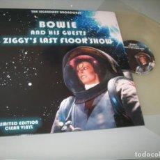 Discos de vinilo: DAVID BOWIE - BOWIE AND HIS GUESTS - ZIGGY´S LAST FLOOR SHOW ..LP CLEAR VINYL - LIMITED EDTION. Lote 205316132