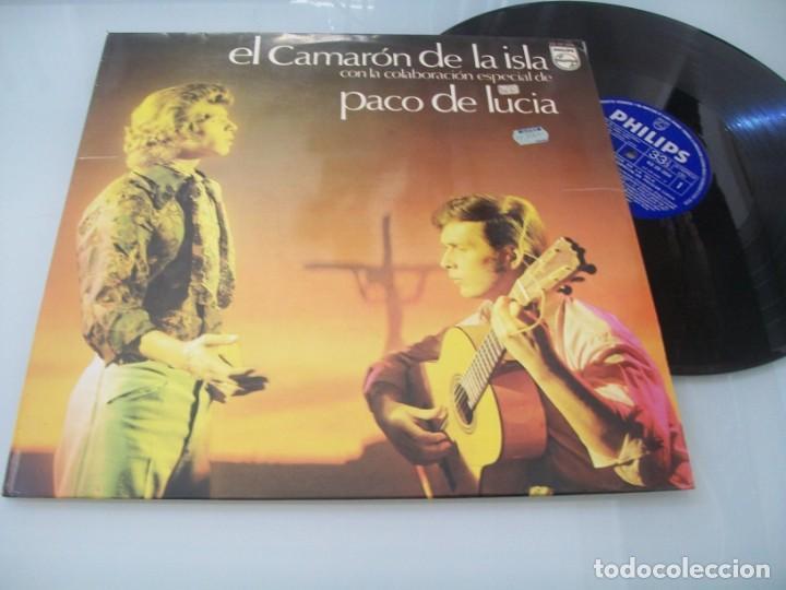 EL CAMARON DE LA ISLA CON PACO DE LUCIA ...LP PHILIPS 1974 - MUY DIFICIL 1ª EDICION (Música - Discos - LP Vinilo - Flamenco, Canción española y Cuplé)