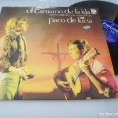 Discos de vinilo: EL CAMARON DE LA ISLA CON PACO DE LUCIA ...LP PHILIPS 1974 - MUY DIFICIL 1ª EDICION. Lote 205318821