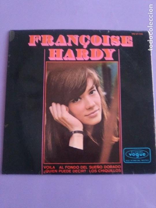 Discos de vinilo: MUY RARO EP. FRANÇOISE HARDY - Spain. VOILA/AL FONDO DEL SUEÑO DORADO + 2 . Disques vogue HV 27-172 - Foto 2 - 205322325