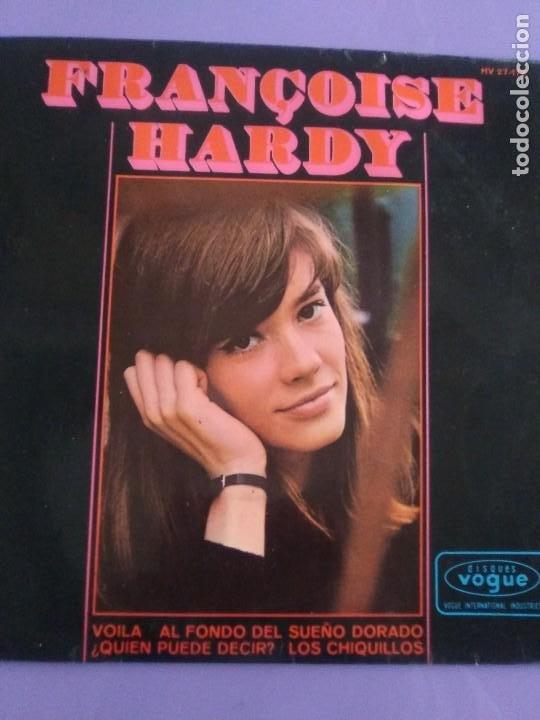 Discos de vinilo: MUY RARO EP. FRANÇOISE HARDY - Spain. VOILA/AL FONDO DEL SUEÑO DORADO + 2 . Disques vogue HV 27-172 - Foto 3 - 205322325