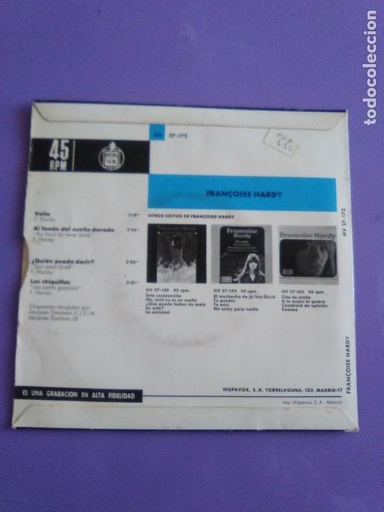 Discos de vinilo: MUY RARO EP. FRANÇOISE HARDY - Spain. VOILA/AL FONDO DEL SUEÑO DORADO + 2 . Disques vogue HV 27-172 - Foto 4 - 205322325