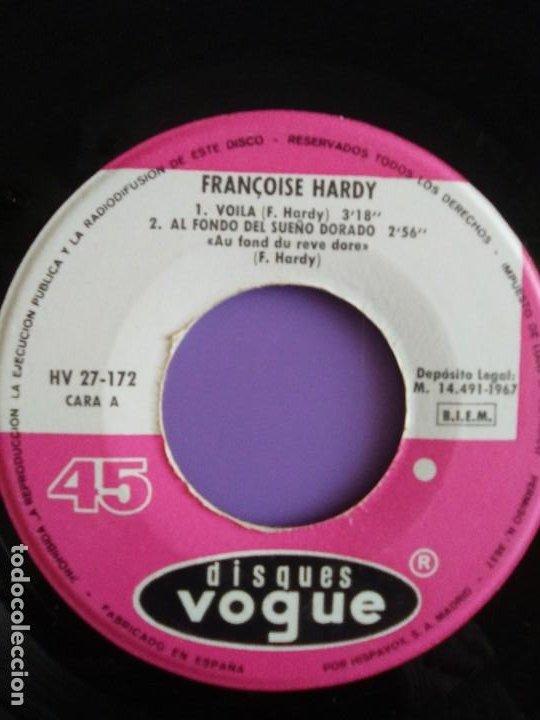 Discos de vinilo: MUY RARO EP. FRANÇOISE HARDY - Spain. VOILA/AL FONDO DEL SUEÑO DORADO + 2 . Disques vogue HV 27-172 - Foto 6 - 205322325