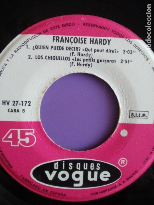 Discos de vinilo: MUY RARO EP. FRANÇOISE HARDY - Spain. VOILA/AL FONDO DEL SUEÑO DORADO + 2 . Disques vogue HV 27-172 - Foto 7 - 205322325