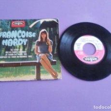 Discos de vinilo: MUY RARO EP. FRANÇOISE HARDY SI C'EST ÇA/QU'ILS SONT HEREUX +2. AÑO1966 VOGUE EPL 8511 FRANCIA. Lote 205323075