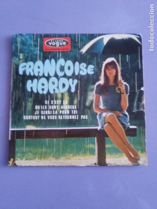 Discos de vinilo: MUY RARO EP. FRANÇOISE HARDY Si cest ça/Quils sont hereux +2. AÑO1966 Vogue EPL 8511 FRANCIA - Foto 2 - 205323075