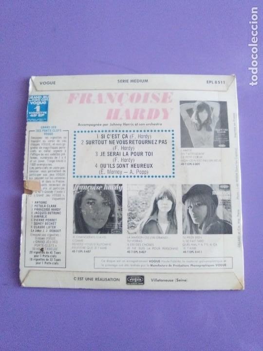 Discos de vinilo: MUY RARO EP. FRANÇOISE HARDY Si cest ça/Quils sont hereux +2. AÑO1966 Vogue EPL 8511 FRANCIA - Foto 5 - 205323075