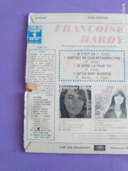 Discos de vinilo: MUY RARO EP. FRANÇOISE HARDY Si cest ça/Quils sont hereux +2. AÑO1966 Vogue EPL 8511 FRANCIA - Foto 6 - 205323075