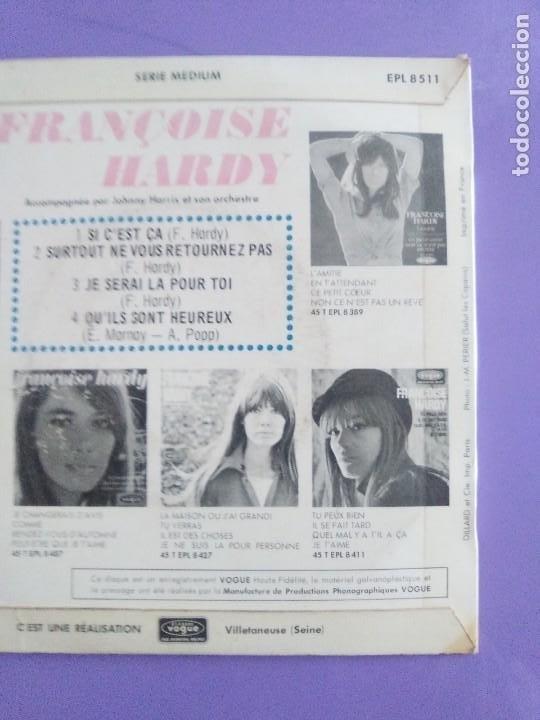 Discos de vinilo: MUY RARO EP. FRANÇOISE HARDY Si cest ça/Quils sont hereux +2. AÑO1966 Vogue EPL 8511 FRANCIA - Foto 7 - 205323075