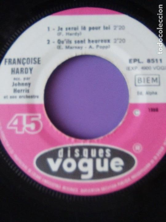Discos de vinilo: MUY RARO EP. FRANÇOISE HARDY Si cest ça/Quils sont hereux +2. AÑO1966 Vogue EPL 8511 FRANCIA - Foto 10 - 205323075