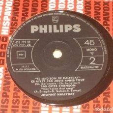 Discos de vinil: JOHNNY HALLYDAY - ED. ESPAÑOLA 1962 - VER FOTO - SOLO VINILO. Lote 205323835