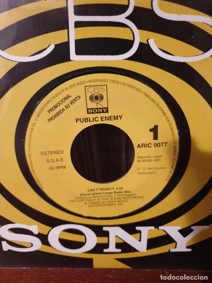 PUBLIC ENEMY / CAN'T TRUST IT / PROMOCIONAL / EDICIÓN ESPAÑOLA / CBS 1991 (Música - Discos - Singles Vinilo - Rap / Hip Hop)