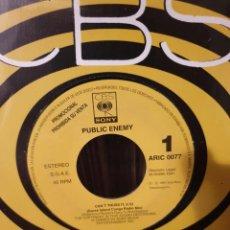 Discos de vinilo: PUBLIC ENEMY / CAN'T TRUST IT / PROMOCIONAL / EDICIÓN ESPAÑOLA / CBS 1991. Lote 205324586