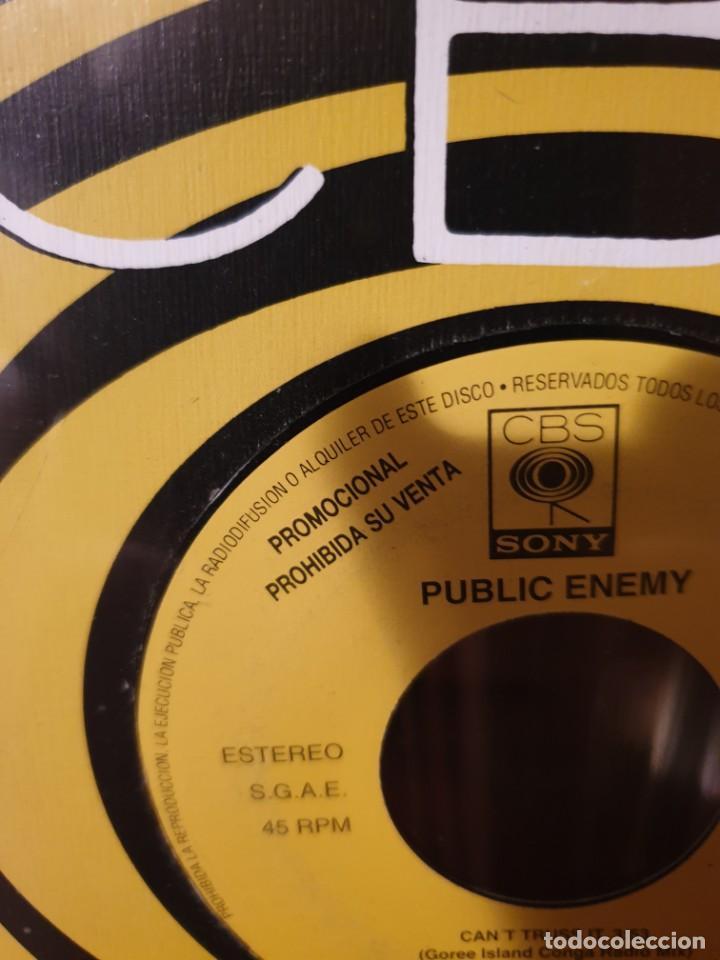 Discos de vinilo: PUBLIC ENEMY / CANT TRUST IT / PROMOCIONAL / EDICIÓN ESPAÑOLA / CBS 1991 - Foto 2 - 205324586