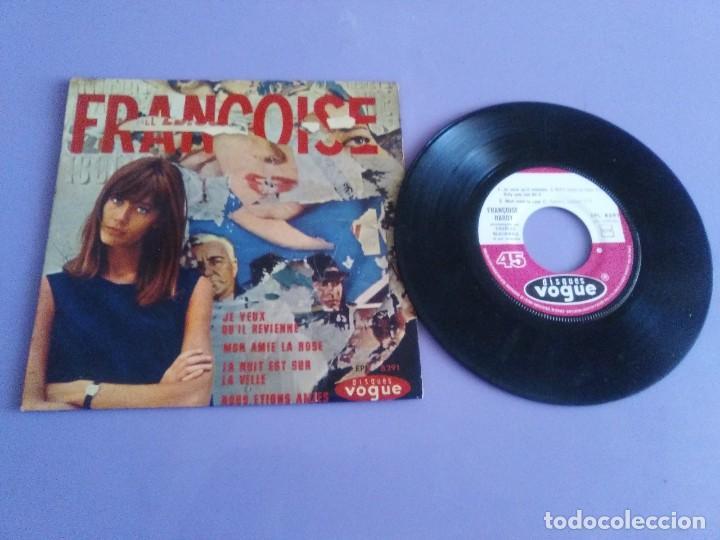 EP. FRANÇOISE HARDY/JE VEUX QU'IL REVIENNE/MON AMIE LA ROSE/LA NUIT EST SUR LA VI.FRANCIA.1964 (Música - Discos de Vinilo - EPs - Canción Francesa e Italiana)