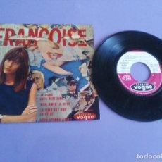 Discos de vinilo: EP. FRANÇOISE HARDY/JE VEUX QU'IL REVIENNE/MON AMIE LA ROSE/LA NUIT EST SUR LA VI.FRANCIA.1964. Lote 205325445