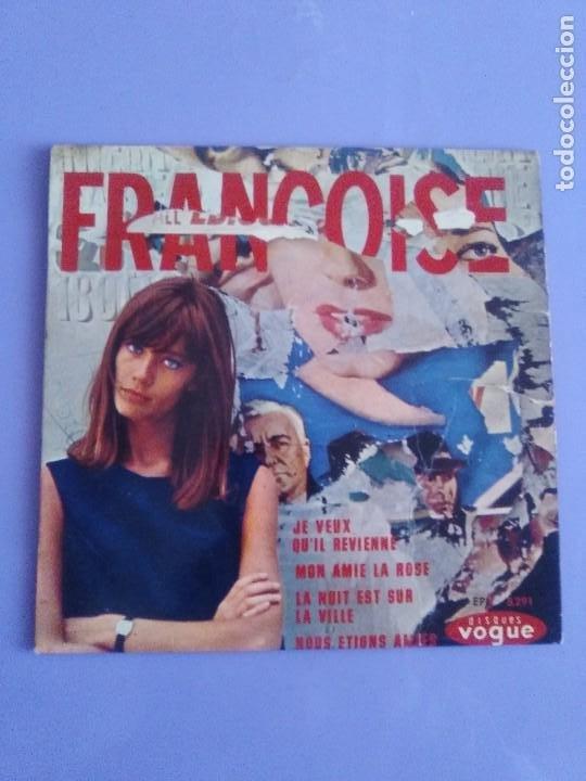 Discos de vinilo: EP. FRANÇOISE HARDY/JE VEUX QUIL REVIENNE/MON AMIE LA ROSE/LA NUIT EST SUR LA VI.FRANCIA.1964 - Foto 2 - 205325445