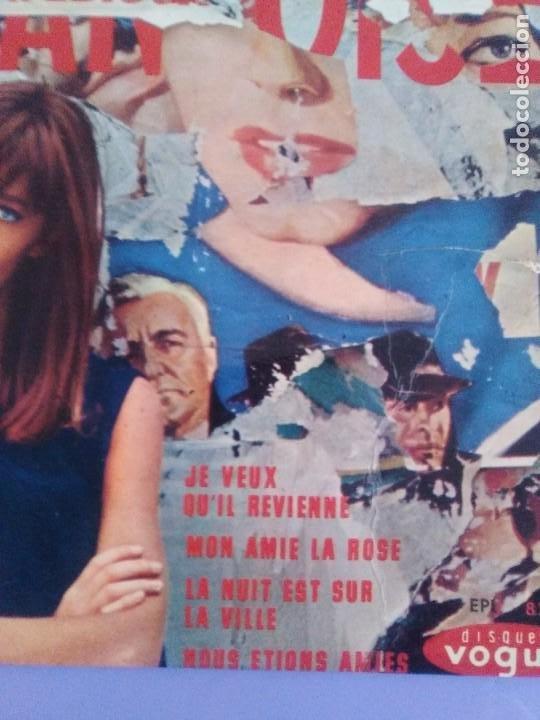 Discos de vinilo: EP. FRANÇOISE HARDY/JE VEUX QUIL REVIENNE/MON AMIE LA ROSE/LA NUIT EST SUR LA VI.FRANCIA.1964 - Foto 4 - 205325445