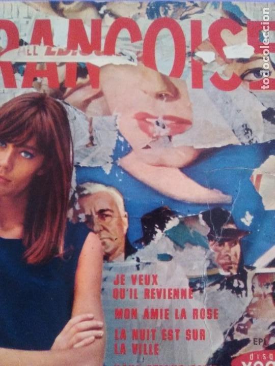 Discos de vinilo: EP. FRANÇOISE HARDY/JE VEUX QUIL REVIENNE/MON AMIE LA ROSE/LA NUIT EST SUR LA VI.FRANCIA.1964 - Foto 5 - 205325445