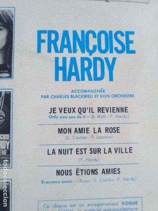 Discos de vinilo: EP. FRANÇOISE HARDY/JE VEUX QUIL REVIENNE/MON AMIE LA ROSE/LA NUIT EST SUR LA VI.FRANCIA.1964 - Foto 7 - 205325445