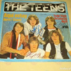 Discos de vinilo: THE TEENS - FIRMADO POR LOS COMPONENTES DEL GRUPO - ED. ESPAÑOLA. Lote 205325603