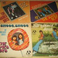 Discos de vinilo: JAMES BOYS - LOTE DE 4 SINGLES. Lote 205325643