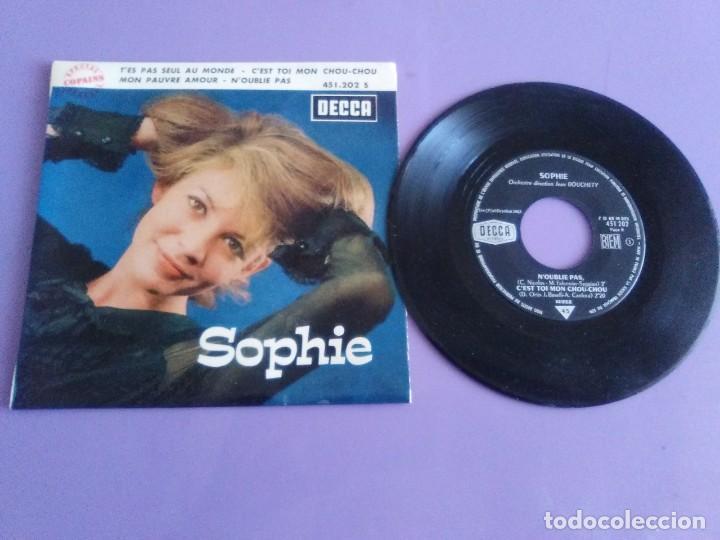 EP 1963 CHICA YE YE 60S.FRANCIA.SOPHIE.T'ES PAS SEUL AU MONDE/N'OUBLIE PAS/C'EST TOI MON CHOU-CHOU+1 (Música - Discos de Vinilo - EPs - Canción Francesa e Italiana)