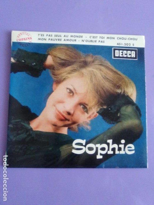Discos de vinilo: EP 1963 CHICA YE YE 60s.Francia.Sophie.Tes Pas Seul Au Monde/Noublie Pas/Cest Toi Mon Chou-chou+1 - Foto 2 - 205325998
