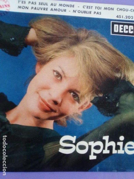 Discos de vinilo: EP 1963 CHICA YE YE 60s.Francia.Sophie.Tes Pas Seul Au Monde/Noublie Pas/Cest Toi Mon Chou-chou+1 - Foto 3 - 205325998