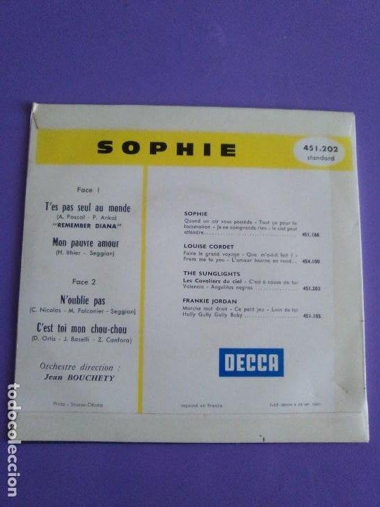 Discos de vinilo: EP 1963 CHICA YE YE 60s.Francia.Sophie.Tes Pas Seul Au Monde/Noublie Pas/Cest Toi Mon Chou-chou+1 - Foto 4 - 205325998