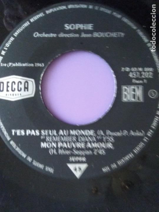 Discos de vinilo: EP 1963 CHICA YE YE 60s.Francia.Sophie.Tes Pas Seul Au Monde/Noublie Pas/Cest Toi Mon Chou-chou+1 - Foto 7 - 205325998