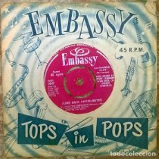 Discos de vinilo: JUKE BOX FAVOURITES: DICK JORDAN/ JOHNNY WORTH/ ERIC WILSON HYDE/S. STANNARD JACQUES LEROY. EP 1960. Lote 205329757