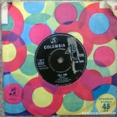 Discos de vinilo: ALMA COGAN WITH BRIAN FOSTER. TELL HIM/ FLY ME TO THE MOON. COLUMBIA, UK 1963 SINGLE. Lote 205331703