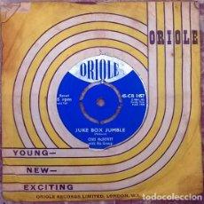 Discos de vinilo: CHAS MCDEVITT WITH HIS GROUP. JUKE BOX JUMBLE/ REAL LOVE. ORIOLE, UK 1958 SINGLE. Lote 205332012