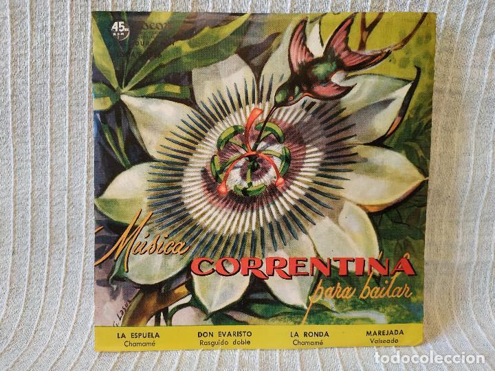 MUSICA CORRENTINA PARA BAILAR - EP ARGENTINO SELLO ODEON DEL AÑO 1958 TITULOS DE LOS TEMAS EN FOTOS (Música - Discos de Vinilo - EPs - Grupos y Solistas de latinoamérica)