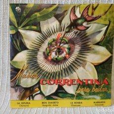 Discos de vinilo: MUSICA CORRENTINA PARA BAILAR - EP ARGENTINO SELLO ODEON DEL AÑO 1958 TITULOS DE LOS TEMAS EN FOTOS. Lote 205340403