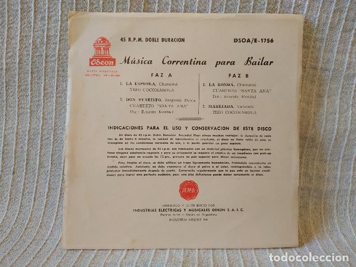 Discos de vinilo: MUSICA CORRENTINA PARA BAILAR - EP ARGENTINO SELLO ODEON DEL AÑO 1958 TITULOS DE LOS TEMAS EN FOTOS - Foto 2 - 205340403