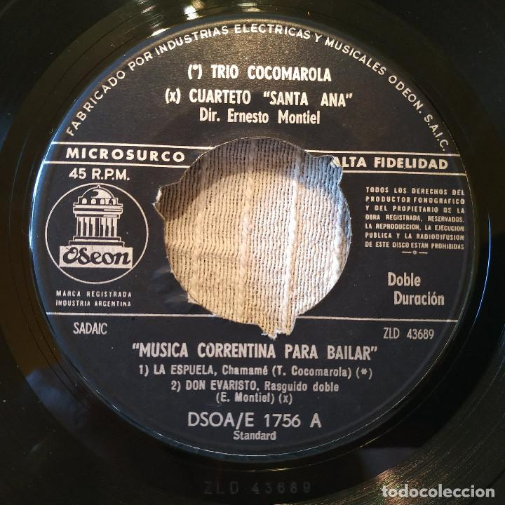 Discos de vinilo: MUSICA CORRENTINA PARA BAILAR - EP ARGENTINO SELLO ODEON DEL AÑO 1958 TITULOS DE LOS TEMAS EN FOTOS - Foto 3 - 205340403