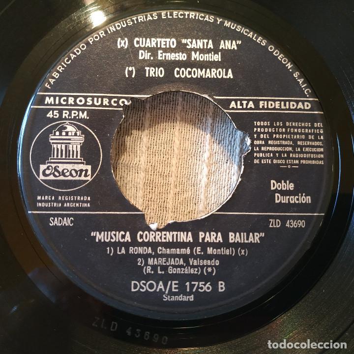 Discos de vinilo: MUSICA CORRENTINA PARA BAILAR - EP ARGENTINO SELLO ODEON DEL AÑO 1958 TITULOS DE LOS TEMAS EN FOTOS - Foto 4 - 205340403