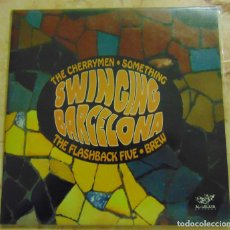 Discos de vinilo: SWINGING BARCELONA - THE CHERRYMEN / SOMETHING / FLASHBACK FIVE / THE BREW - EP 1996. Lote 205345061
