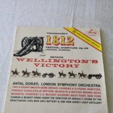 Disques de vinyle: 1812.FESTIVAL OVERTURE. OP. 49.TCHAIKOVSKY .WELLINGTON'S VICTORY. OP. 91.BEETHOVEN.ANTAL DORATI. LP. Lote 205350083