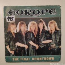 Discos de vinilo: NT EUROPE - THE FINAL COUNTDOWN 1986 SPAIN SINGLE VINILO. Lote 205354478
