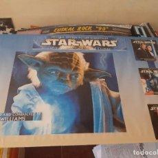 Discos de vinilo: CARTEL STAR WARS. OFICIAL B.S.O. DE SONY MUSIC. JOHN WILLIAMS. ORIGINAL.. Lote 205373441